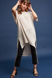 Anthropologie Sweeping Tunic Neutral