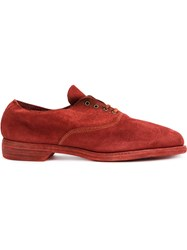 Guidi Oxford Shoes Red