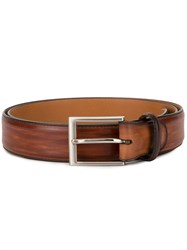 Magnanni Tarnished Effect Belt Brown