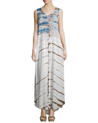 Xcvi Aldura Tie Dye Sleeveless Maxi Dress Bamboo