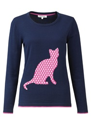 Tulchan Cat Silhouette Jumper Navy