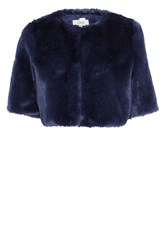 Coast Prague Faux Fur Cover Up Blue
