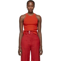 Proenza Schouler Red Silk And Cashmere Knit Tank Top