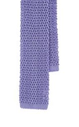 Ralph Lauren Black Label Crochet Knit Necktie Purple