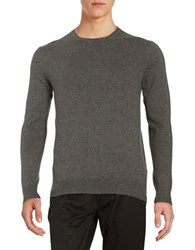 Black Brown Long Sleeve Crewneck Sweater Dark Grey