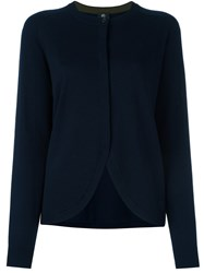 Paul Smith Ps By Scalloped Hem Cardigan Blue