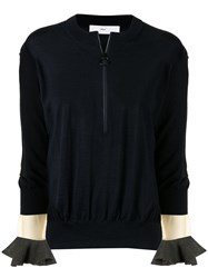 Toga Pulla Zip Detail Sweater Black
