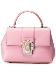Dolce And Gabbana Lucia Tote Pink Purple
