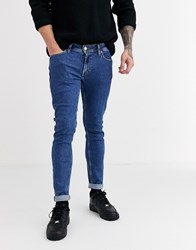 Jack And Jones Skinny Fit Stonewash Jeans In Light Blue