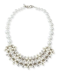 Pearly Crystal Cluster Necklace Women's Pearl Kenneth Jay Lane