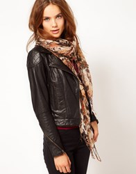 Warehouse Animal Print Scarf Multi