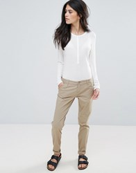 Only Paris Low Skinny Chino Trousers Silver Mink Grey
