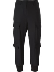 Neil Barrett Cuffed Trousers Blue