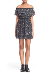 Women's The Kooples Tattoo Print Off The Shoulder Dress