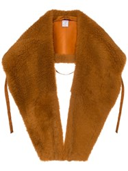 Sies Marjan Jordi Shearling Shawl Brown
