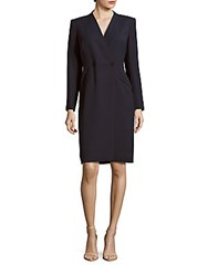 Lafayette 148 New York Nataline Double Breasted Coat Dress New Ink