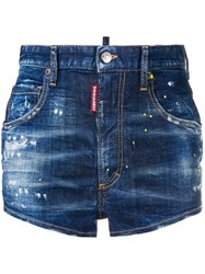 Dsquared2 Cool Girl Shorts Blue