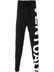 Barbara I Gongini Lateral Print Track Pants Black