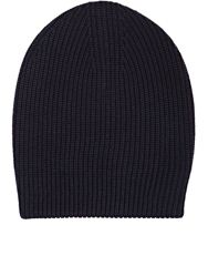 Barneys New York Shaker Stitched Slouchy Hat Blue