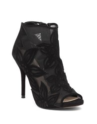 Jessica Simpson Bliths Floral Open Toe Boots Black