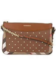 Burberry Flat Crossbody Bag Brown