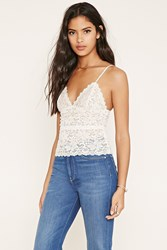 Forever 21 Scalloped Floral Lace Cami