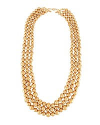 Lydell Nyc Triple Row Statement Necklace Gold