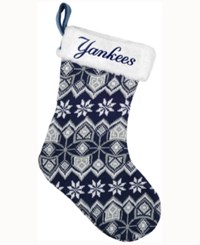 Forever Collectibles New York Yankees Ugly Sweater Knit Team Stocking Navy