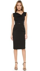 Black Halo Jackie O Belted Dress Black