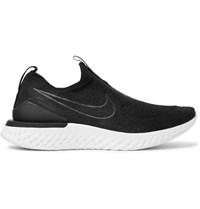 Nike Running Epic Phantom React Flyknit Slip On Running Sneakers Black