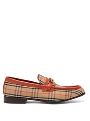 Burberry Moorely Dalston Vintage Check Canvas Loafers Red