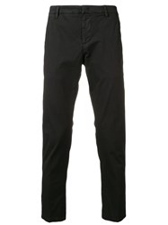 Dondup Cropped Tapered Trousers Black