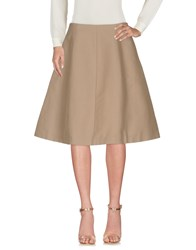 Aspesi Knee Length Skirts Sand