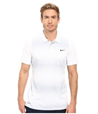Nike Tiger Woods Vl Max Sphere Stripe Polo White Wolf Grey Reflect Black Men's Short Sleeve Pullover