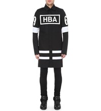 Hood By Air Logo Print Duster Coat Black