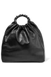 The Row Double Circle Xl Leather Tote Black