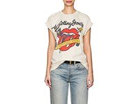 Madeworn Rolling Stones Tattoo You Distressed Cotton T Shirt White