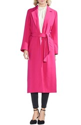 Vince Camuto Stetch Crepe Trench Coat Pink Flame