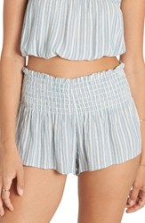 Billabong Women's Breezy Day Stripe Smocked Shorts