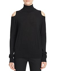 Vince Cold Shoulder Turtleneck Sweater Black