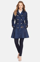 Women's Lauren Ralph Lauren Water Resistant Double Breasted Skirted Trench Coat