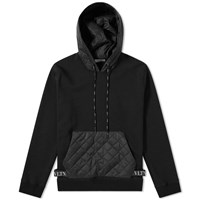 Valentino Popover Quilted Pouch Hoody Black