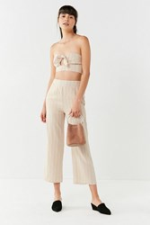 Urban Outfitters Uo Just In Time Wide Leg Pant Neutral Multi