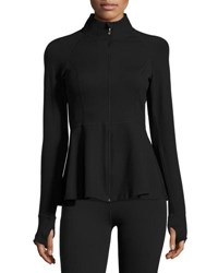Beyond Yoga X Kate Spade Bow Back Flounce Athletic Jacket Jet