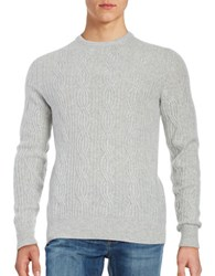 Black Brown Cable Knit Cashmere Sweater Silver Grey