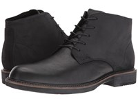 Ecco Kenton Plain Toe Boot Black Black Men's Dress Lace Up Boots