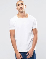 Asos Smart T Shirt With Square Neck In White White