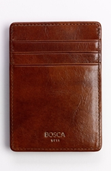Bosca 'Old Leather' Front Pocket Wallet Amber