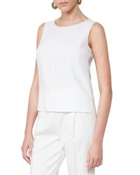 Akris Punto Sleeveless Round Neck Shell Beige