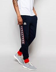 Kappa Skinny Joggers With Poppers Navy